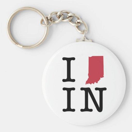 I Love Indiana Key Chain