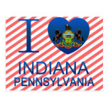 I Love Indiana, PA Postcard