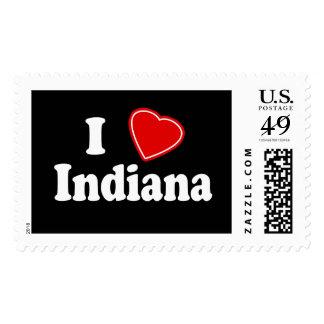 I Love Indiana Stamp