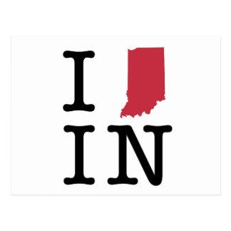 I Love Indiana Postcard