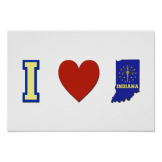 I Love Indiana Poster