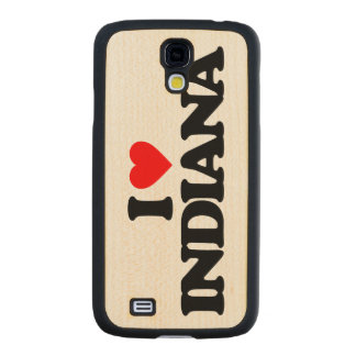 I LOVE INDIANA CARVED® MAPLE GALAXY S4 SLIM CASE