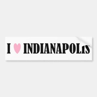 I LOVE INDIANAPOLIS BUMPER STICKER
