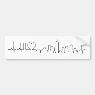 I love Indianapolis in an extraordinary ecg style Bumper Sticker