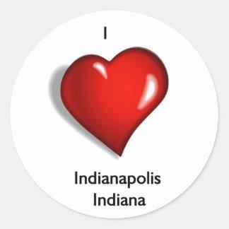 I Love Indianapolis Indiana Classic Round Sticker