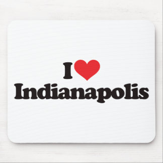 I Love Indianapolis Mouse Pad
