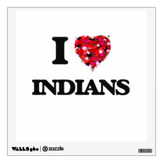 I Love Indians Wall Decals