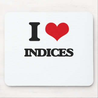 I Love Indices Mouse Pad