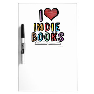 I Love Indie Books Dry-Erase Board