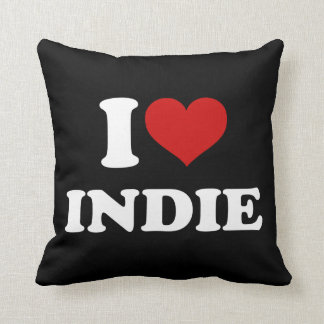 I Love Indie Throw Pillow