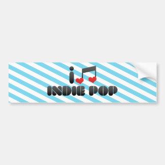 I Love Indie Pop Car Bumper Sticker