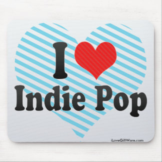 I Love Indie Pop Mouse Pad