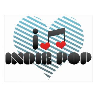 I Love Indie Pop Postcard