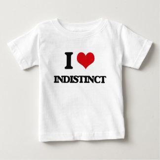 I Love Indistinct Tee Shirts