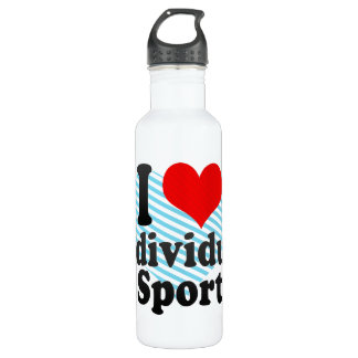 I love Individual Sport Stainless Steel Water Bottle