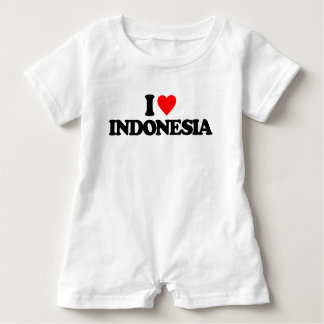 I LOVE INDONESIA BABY ROMPER