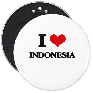 I Love Indonesia Buttons