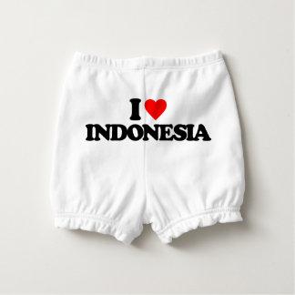 I LOVE INDONESIA DIAPER COVER