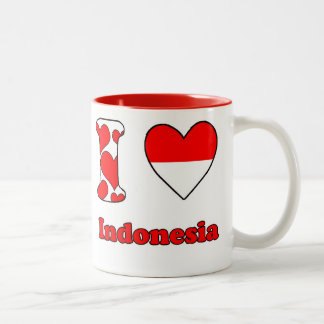 I love Indonesia Two-Tone Coffee Mug
