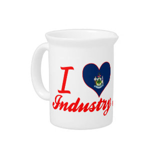 I Love Industry Maine Pitcher