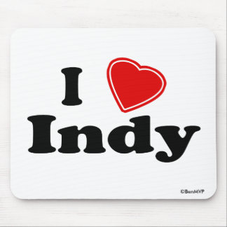 I Love Indy Mouse Pad