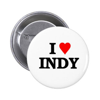 I love Indy Pinback Button