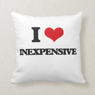 I Love Inexpensive Throw Pillow