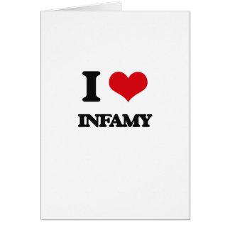 I Love Infamy Greeting Card