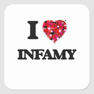 I Love Infamy Square Sticker