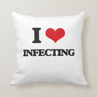 I Love Infecting Throw Pillow