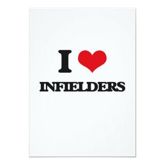 I Love Infielders 5x7 Paper Invitation Card