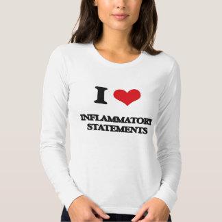 I Love Inflammatory Statements T Shirt