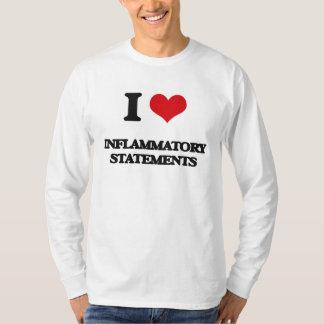 I Love Inflammatory Statements Tee Shirt