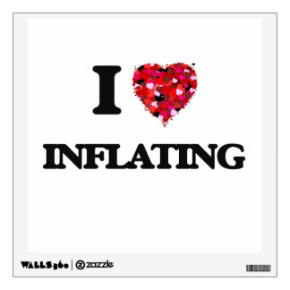 I Love Inflating Room Graphic