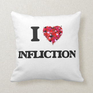 I Love Infliction Throw Pillow