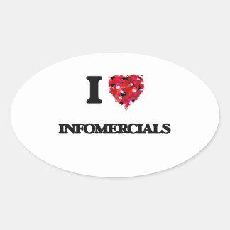 I Love Infomercials Oval Sticker