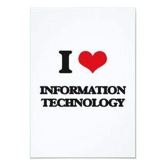 I Love Information Technology 3.5x5 Paper Invitation Card