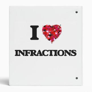 I Love Infractions Binders