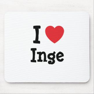 I love Inge heart T-Shirt Mouse Pad