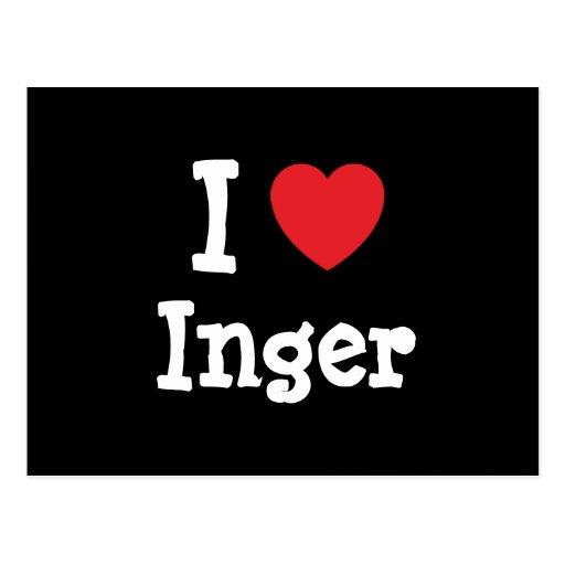 I love Inger heart T-Shirt Postcard