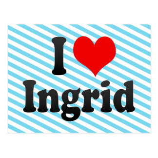 I love Ingrid Postcard