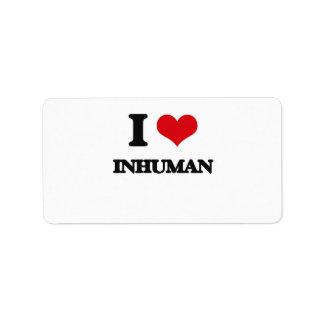 I Love Inhuman Address Label