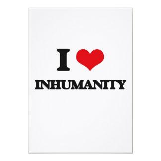 "I Love Inhumanity 5"" X 7"" Invitation Card"