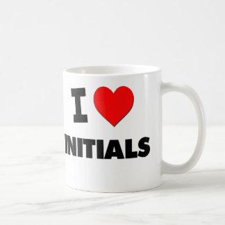 I Love Initials Classic White Coffee Mug