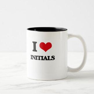 I Love Initials Two-Tone Coffee Mug