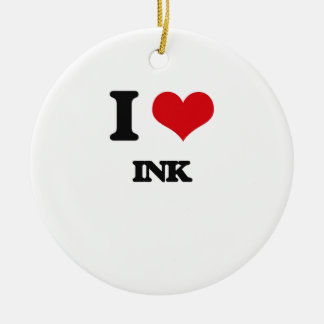 I Love Ink Ornaments