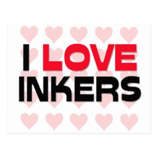 I LOVE INKERS POSTCARD