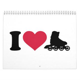 I love Inline skates Calendar