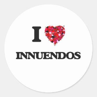 I Love Innuendos Classic Round Sticker