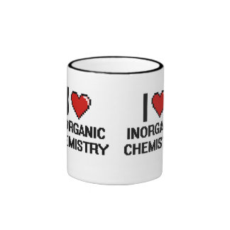 I Love Inorganic Chemistry Digital Design Ringer Coffee Mug
